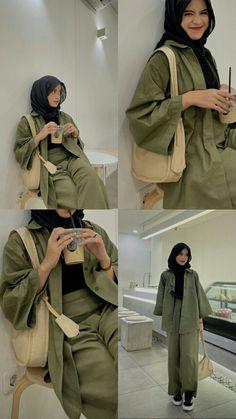 Modest Fashion Hijab, Modern Hijab Fashion, Street Hijab Fashion, Hijab Casual, Hijab Fashion Inspiration, Ootd Hijab, Teen Fashion Outfits, Muslim Fashion, Ootd Fashion