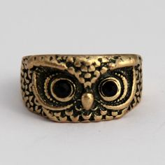 Antique style owl ring! How cute!! Great gift idea or stocking stuffer!
