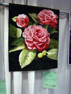DSC02777 Quilt 3005 Camellias in my Garden by Janis Arredondo by godutchbaby, via Flickr