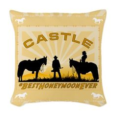 Castle Beckett Woven Throw Pillow Best Honeymoon Ever cases and other designs #RichardCastle  For this design CLICK HERE  http://www.cafepress.com/dd/94894027