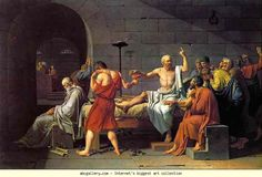 Jacques-Louis David. The Death of Socrates. Olgas Gallery.