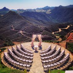 Seating layout option (huppah & table not for me) || Malibu Rocky Oaks
