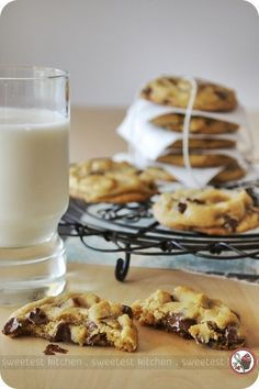 Best chewy chocolate chip cookies ever! The secret ingredient is cornstarch!