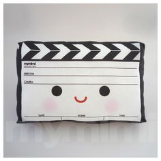 Decorative Mini Pillow, Geekery Toy Pillow, Stuffed Toy - Movie Clapper. $18.00, via Etsy.