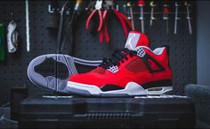 """This All Red """"Toro Bravo 4s"""" Will Releas on July 13th,you can get http://www.preorderjordans2013.com/"""