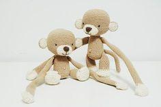 Patrón: Monos abraza-cortinas.