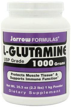 Jarrow Formulas L-Glutamine Powder, 1000g   Health Super Store List Price: $63.95 Discount: $27.66 Sale Price: $36.29 Gram Powder, Muscle Tissue, Health Shop, Nutritional Supplements, Amino Acids, Serving Size, Human Body, Metabolism, Personal Care