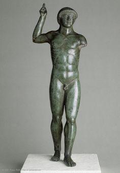 Athlete  Early 5th century BC  Production of Magna Graecia (Medma?)  Bronze  H. 46 cm  Royal collections, before 1684, Garde-Meuble de la Couronne (no. 63)  | Louvre Museum | Paris