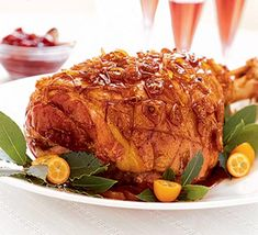 Forget the ham kettle or supersized pan - you can cook this luscious sticky ham in the oven, with equally tasty results
