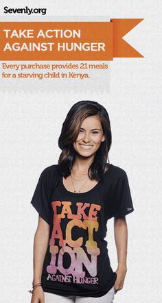 Will you choose to save a malnourished child? I mean, not only are you saving a starving child, but you're getting a super cute shirt! Take action here ---> www.sevenly.org/Veronica