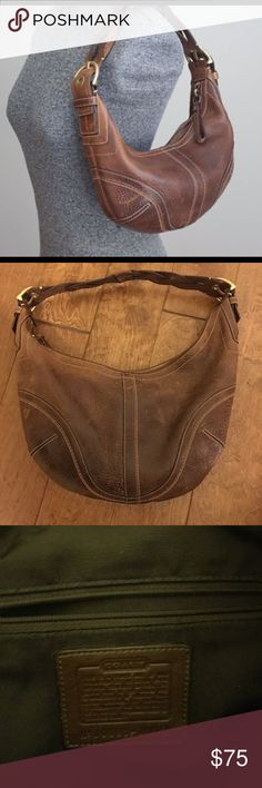 Coach Brown Leather Soho Bag with Braided Strap Coach 10042 Brown Pebbled Leather Soho Bag with Braided Strap. Only used a few times. Good condition. Coach Bags Hobos