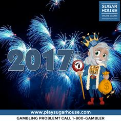 Let's make 2017 the year we stick to our resolutions. What's yours?! Happy New Year from King Cash & everyone at SugarHouse Online Casino! #happynewyear #2017 #resolution #newyear #newjersey #playsugarhouse #onlinecasino #kingcash #games #slots #play #win #gaming #casino #fun