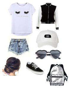 """Bold ootd"" by daishajackson on Polyvore featuring Chicnova Fashion, Vans and New Look"