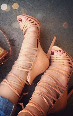 Strappy Heels ... Love it!