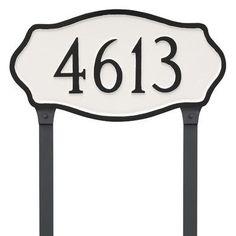 Montague Metal Products Standard Hamilton Address Plaque Finish: Black/Copper