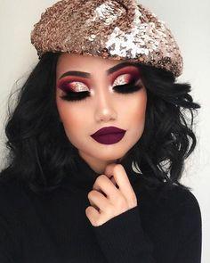 "210.8k Likes, 1,055 Comments - Huda Kattan (@hudabeauty) on Instagram: "" #Repost @makeupbyalinna ・・・ purple-ish lip  Eyes: @hudabeauty Mini obsession palette in…"""