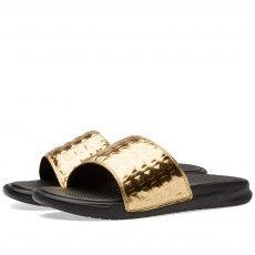 Nike W Benassi JDI Ultra Premium (Black & Gold)