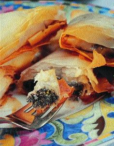 Make a Poppy Seed Dessert: Phyllo Triangles with Poppy Seed Filling