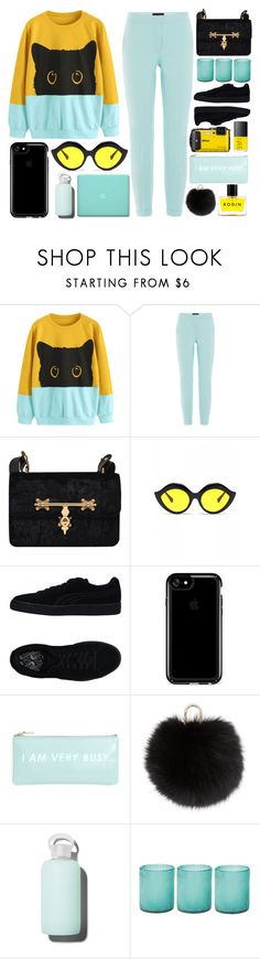 """""""Black cat"""" by deeyanago ❤ liked on Polyvore featuring Piazza Sempione, Puma, Speck, Yves Salomon, bkr, Jamie Young, Rodin, StreetStyle, casual and ootd"""