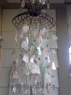 Tumbled Glass Windchime. Wow! I love the sound of wind chimes and wonder how over the top this would sound!