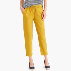 Intelligent J.jill Nwt $69 Women Small Pants 100% Linen Pull On Slit Hems Crop Modern Design Pants
