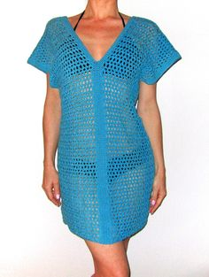 323157123b Shell Crochet Beach Cover Up Pattern Only PDF