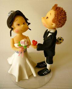 Mariés en porcelaine froide