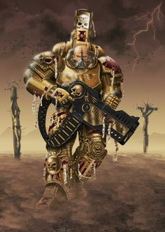 Ordo Malleus Inquisitor Lord in Power Armour w/ Psycannon.