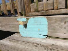 Whale Nautical Nursery Coastal Cottage Beach by justbeachyshop, $21.50