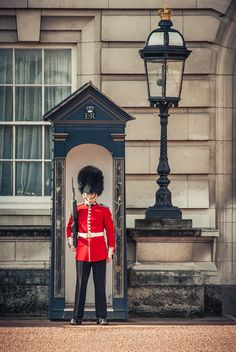 Guarding the Queen, London, UK