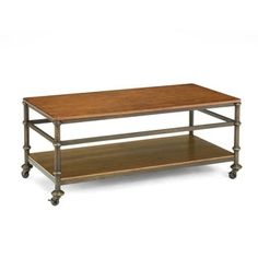 Shop for Bernards Bentley Oak and Metal Castor Cocktail Table. Get free shipping at Overstock.com - Your Online Furniture Outlet Store! Get 5% in rewards with Club O!
