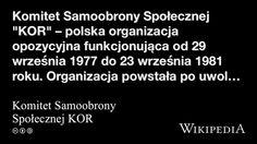 """""""Komitet Samoobrony Społecznej KOR"""" på @Wikipedia: Workers Union, Poland, Organization"""