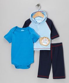 The itty-bittiest cuties are the most adorable when they're all put together in a matching ensemble. Luxuriously soft cotton keeps crawlers comfy, while an elastic waistband provides freedom of movement.