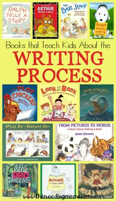 Teach Your Child to Read - Books that Teach About the Writing Process ~ a book list from This Reading Mama - Give Your Child a Head Start, and.Pave the Way for a Bright, Successful Future. Writing Strategies, Writing Lessons, Writing Process, Writing Skills, Writing Ideas, Writing Centers, Math Lessons, Writing Kids Books, Writing Folders