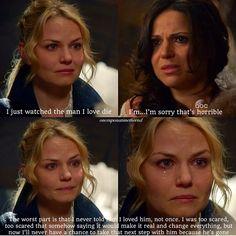 Emma and Regina - Emma tells Regina how she was too afraid to tell Hook that she loved him
