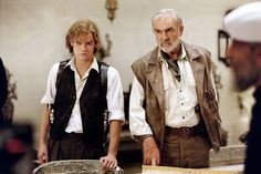 The League of Extraordinary Gentlemen -Tom Sawyer (Shane West) and Allan Quatermain (Sean Connery)