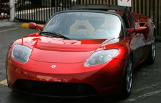 Tesla Roadster..electric car Tesla Electric Car, Electric Cars, Chevrolet Volt, Tesla Roadster, Tesla Model X, Go Green, Muscle Cars, Dream Cars, Ruby Red