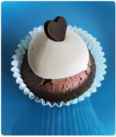 Cupcakes de dos chocolates  Two chocolat cupcakes