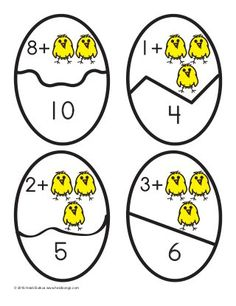 Counting on with Addition Eggs Activity