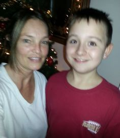 Reanee Wilkinson Christmas 2013 with my youngest son