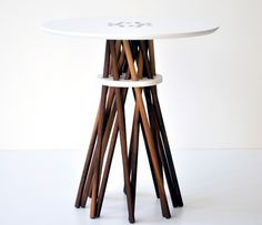 White Bundle Table  by Forage Modern Workshop