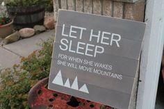 """""""Let Her/Him Sleep"""" Nursery Decor"""