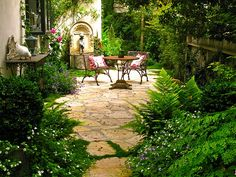 stone patios are forever spots