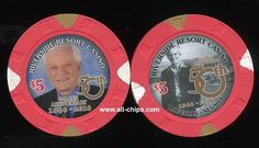 #LasVegasCasinoChip of the Day is a $5 Riverside 50th Golden Anniversary you can get here https://www.all-chips.com/ChipDetail.php?ChipID=19429 #CasinoChip #LasVegas