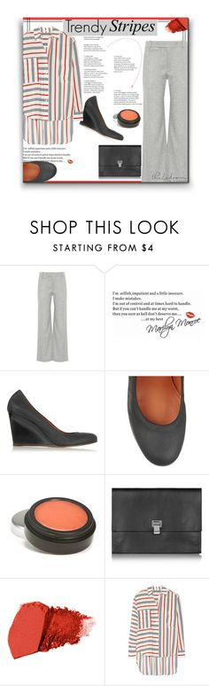 """""""Calling Out Sick"""" by sherieme ❤ liked on Polyvore featuring rag & bone, Lanvin, Proenza Schouler, Jane Iredale, Tome, stripes, trend, netaporter, orangeandblack and polyvorecontest"""