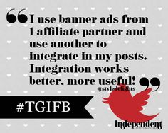 Do you monetize your blog? What works best for you? Banner Ads? Affiliate Links? #TGIFB