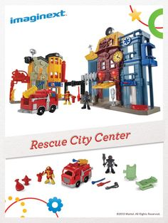 With the Imaginext Rescue City Center, your child can answer rescue calls from all around town. #FisherPrice #Toys #Imagination