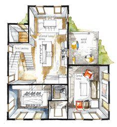 Real Estate Color Floor Plan 9 on Behance