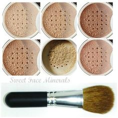 XXL KIT with BRUSH Full Size Mineral Makeup Set Bare Skin Powder Foundation Cover by Sweet Face Minerals (Warm) >>> Check this awesome product by going to the link at the image. (This is an affiliate link and I receive a commission for the sales) Matte Foundation, Powder Foundation, Mineral Foundation, Bare Face, Beauty Kit, Finishing Powder, Organic Makeup, Makeup Brush Set