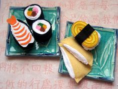 sushi toys--use terry cloth for rice